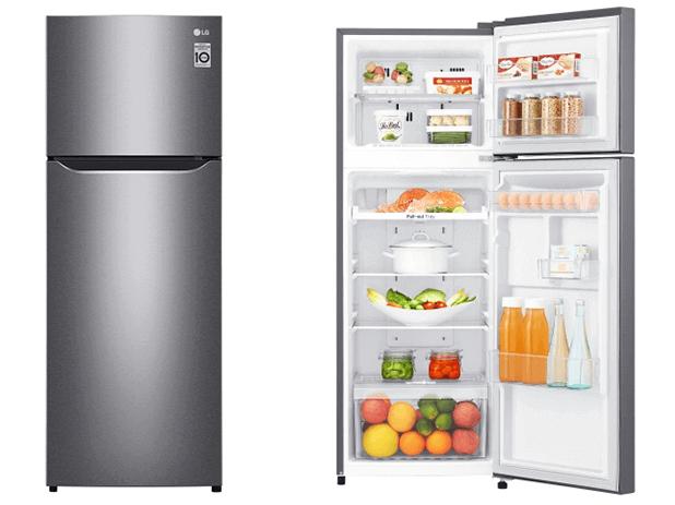 LG 225-liter Refrigerator GN-C262SLBN; Double Door, LINEAR Cooling™, Door Cooling+™, Frost Free Double Door Fridges Double door fridge
