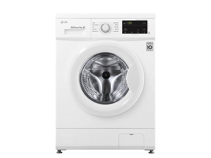 LG 7kg Front Load Washing Machine – FH2J3QDNP0; White, 6 Motion Direct Drive Motor, Smart Diagnosis™, 1200RPM Front Load Washers front load washing machine