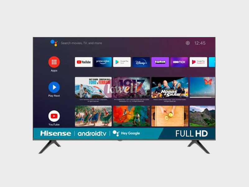 Hisense 40 inch Android TV, 40 Inch Smart TV with Built-in WiFi, Chromecast, Bluetooth and Free-to-air Receiver Android TVs