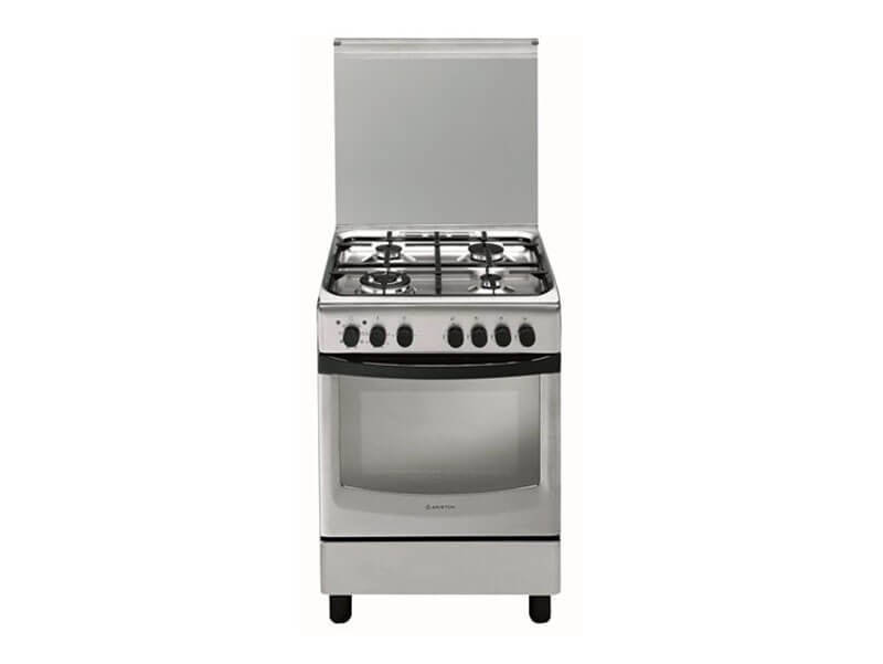 Ariston 4 Gas Cooker with Electric Oven + Grill + Fan, 60cm – A6TMH2AF(X) Ariston Cookers and Ovens Ariston cooker