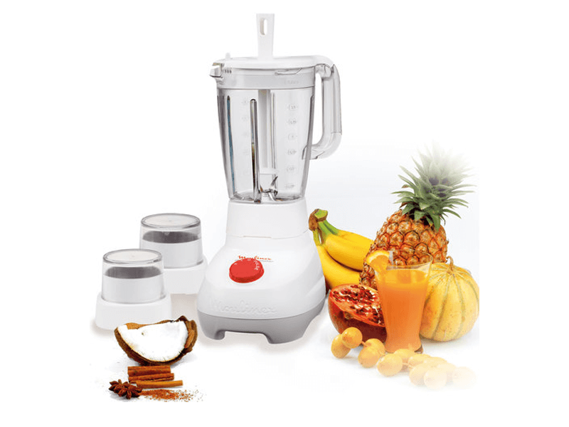 A blender sitting on top of a table - Moulinex