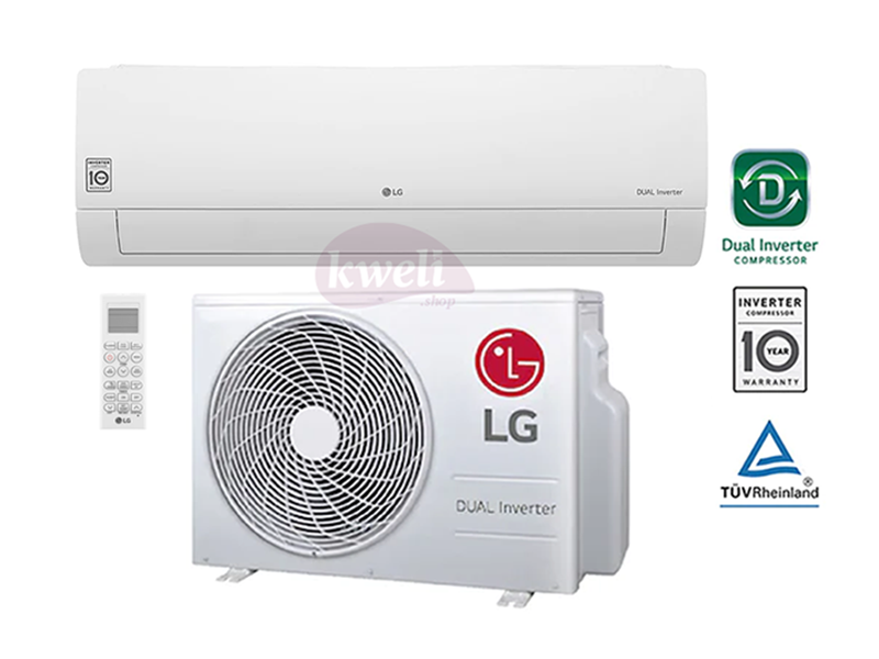 LG 24000 BTU Wall Split Air Conditioner, R410a – BS-Q246K3A1; DUAL Inverter Air Conditioner, 70% Energy Saving, 40% Faster Cooling Air Conditioners Wall Split AC