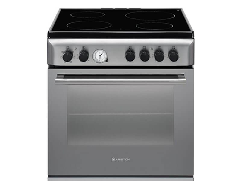 Ariston Electric Cooker Oven with Vitro Ceramic Cooktop A6V530X