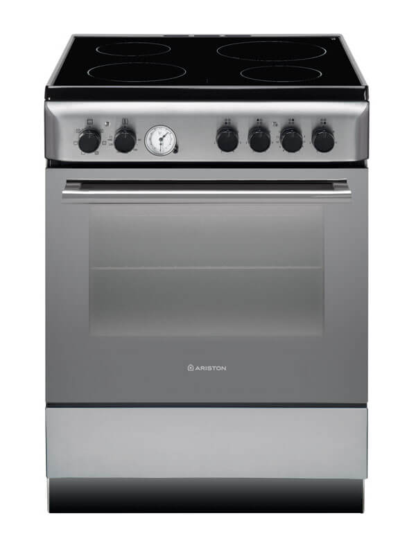 Ariston Electric Cooker Oven with Vitro Ceramic Cooktop 60cm – A6V530X