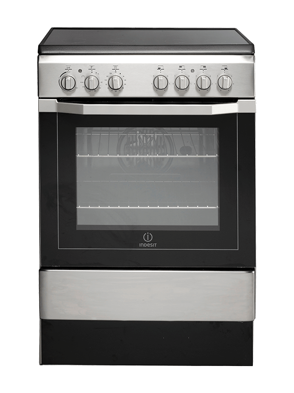 Indesit 4 Electric Cooker with Ceramic Cooktop + Electric Oven, 60cm – I6VV2AX Electric Cookers ceramic cooker