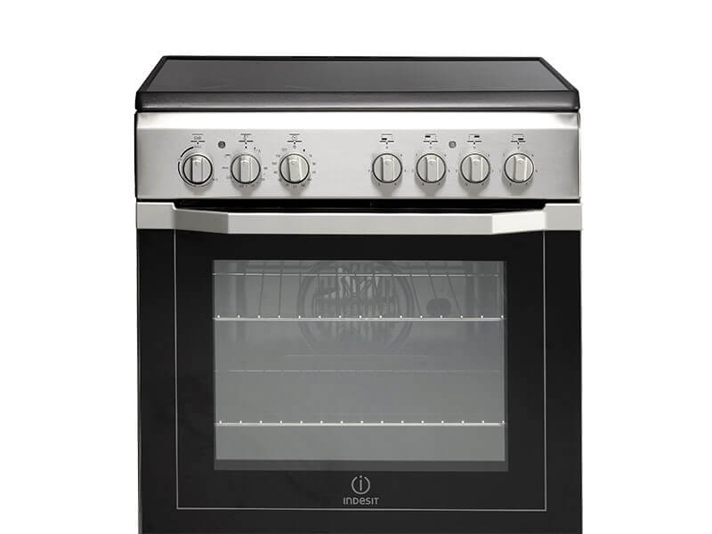 Indesit Electric Cooker with Ceramic Cooktop I6VV2AX