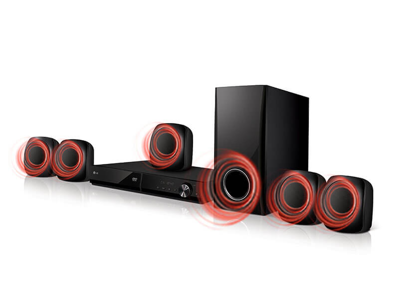 LG 5.1 Channel Bluetooth DVD Home Theater System 330W – LHD427 Home Theatre Systems Home Theatre