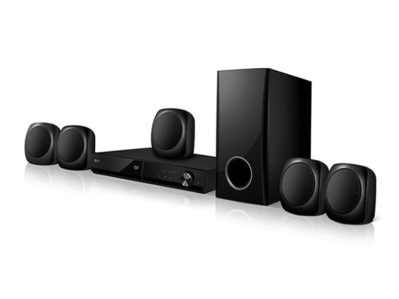 LG 5.1Ch Bluetooth DVD Home Theatre System 330W – LHD427