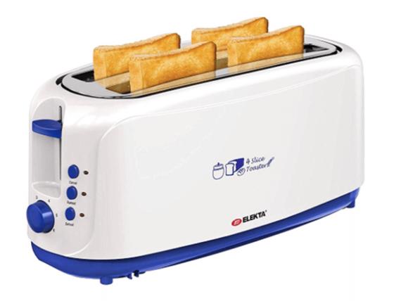 Elekta 4 Slices Plastic Toaster – ET-452MKI Bread Toasters bread toasters