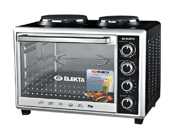 Elekta 43L Electric Oven with 2 Hot Plates and Rotisserie – EBRO-444HP(K) Cookers and Ovens Electric Ovens