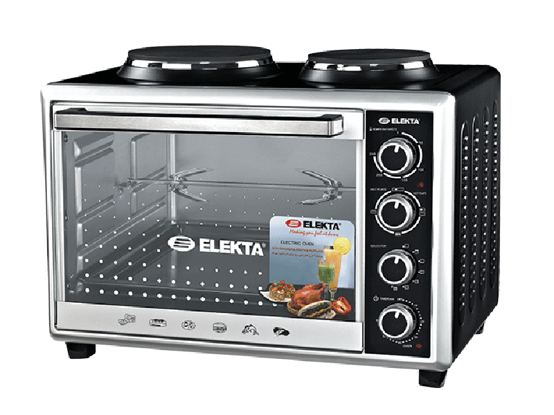 Elekta 43L Electric Oven with 2 Hot Plates and Rotisserie – EBRO-444HP(K)