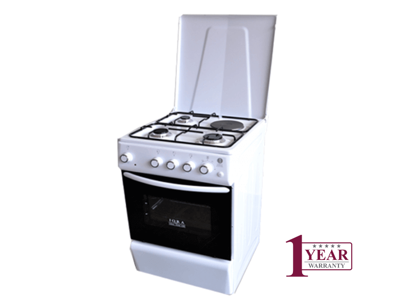 Iqra Combination Cooker IQ-1011C (3 Gas + 1 Elec) with Electric Oven & Grill