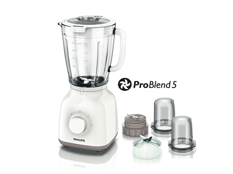 Philips Smoothie Blender + Mill +Chopper HR2114, 1.5L, 400W