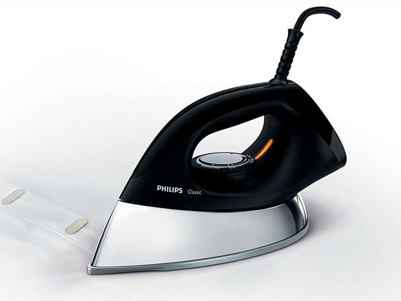 Philips 1.5kg Heavy Weight Dry Iron, non-stick 1200w – GC185