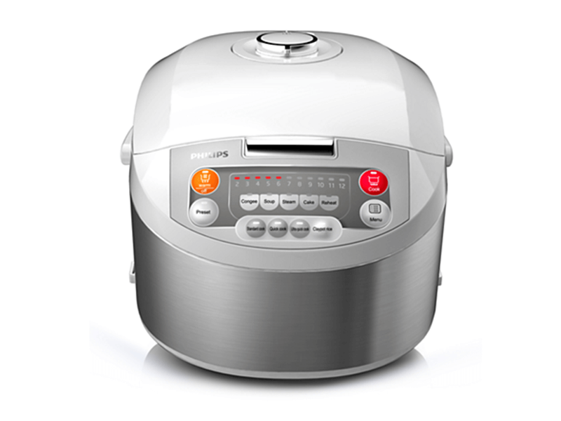 Viva Collection Fuzzy Logic Rice Cooker HD3038, 1.8L