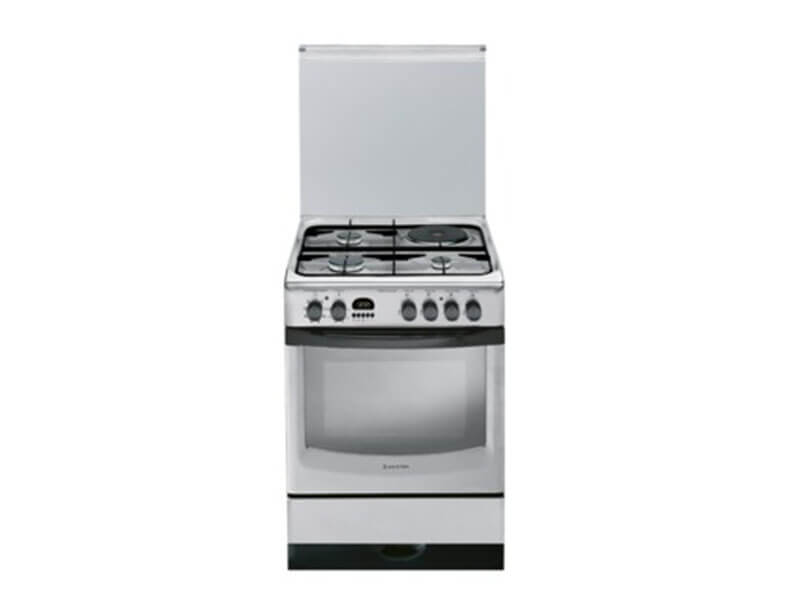 Ariston Cooker A6MMC6AF; 60cm Cooker, 3 Gas + 1 Electric Hotplate, Fan Assisted Electric Oven with Digital Display + Gas leak safety Ariston Cookers and Ovens Ariston cooker