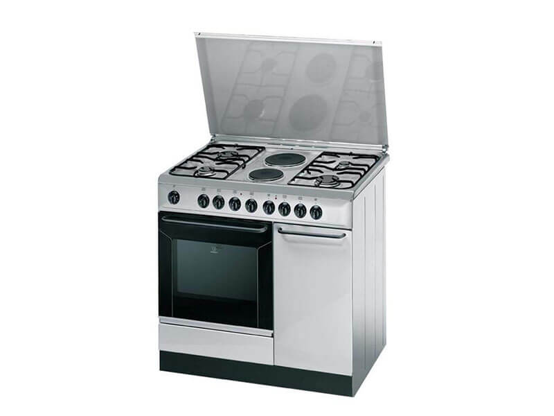 Indesit Combination Cooker ( 4 Gas +2 Elec.) Elec. Oven + Flame Failure Device – K9B11SXI