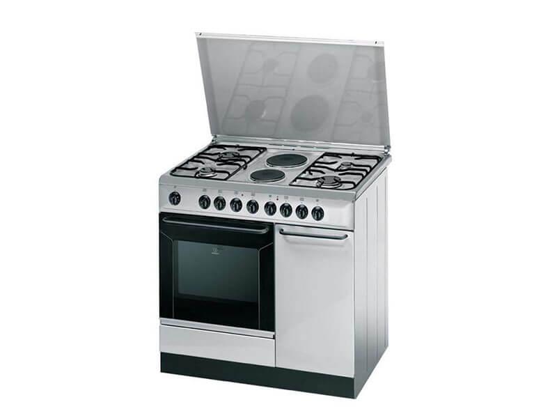 Indesit Combination Cooker ( 4 Gas +2 Elec.) Elec. Oven +Grill – K9B11SXI