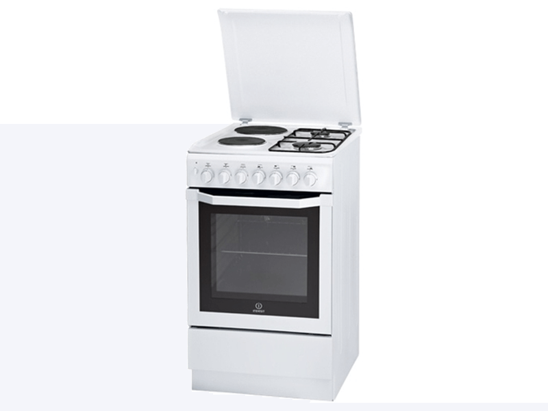 Indesit Combination Cooker (2 Gas +2 Elec.), Electric Oven + Grill I5NSH2AE(W)