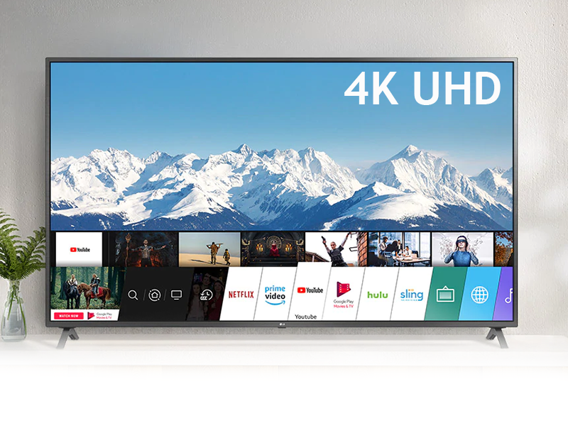 LG 55 Inch 4K UHD Smart TV 55UN7340PVC; Apps by webOS, 4K Active HDR, 4K Upscale, AI ThinQ, Ultra Surround, HDMI, USB, AV, Free-to-air Receiver 4K UHD Smart TV Television