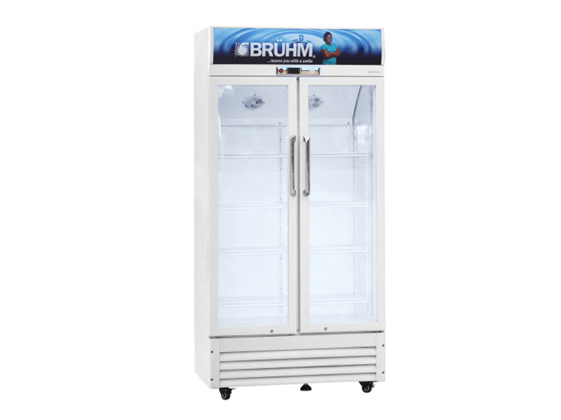 Bruhm Double Door Beverage Cooler – Display Refrigerator 550L – BFV-550DD
