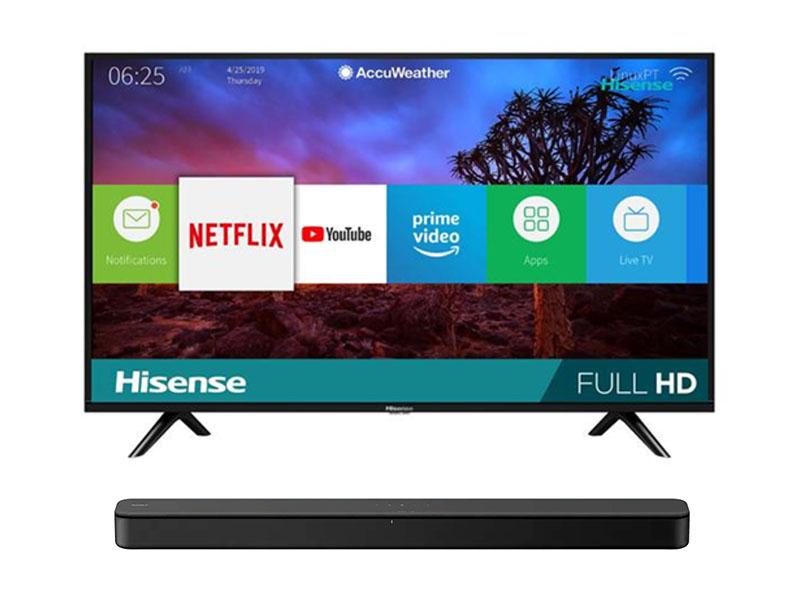 Hisense 40 Inch Smart TV + Sony 2.1 Ch. SoundBar