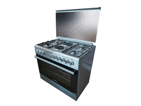 Ocean Cooker 90cm OCER 9642-22IC; 4 Gas +2 Electric with Wide Electric Oven, Oven Turbo Fans, Automatic Ignition Gas Burners Combo Cookers