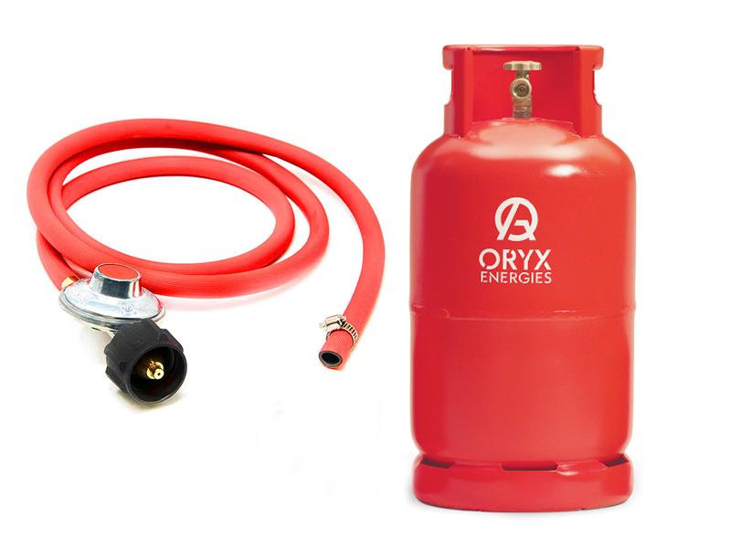 Oryx Gas Cylinder, 13kg + Regulator + Hosepipe – Ox13NS LPG Cooking Gas