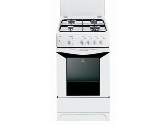 Indesit 4 Gas Cooker with Gas Oven, 50cm – K3G2SW Gas Cookers