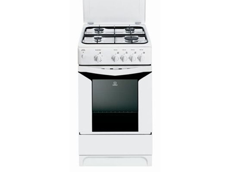 Indesit 4 Gas Cooker with Gas Oven, 50cm – K3G2SW