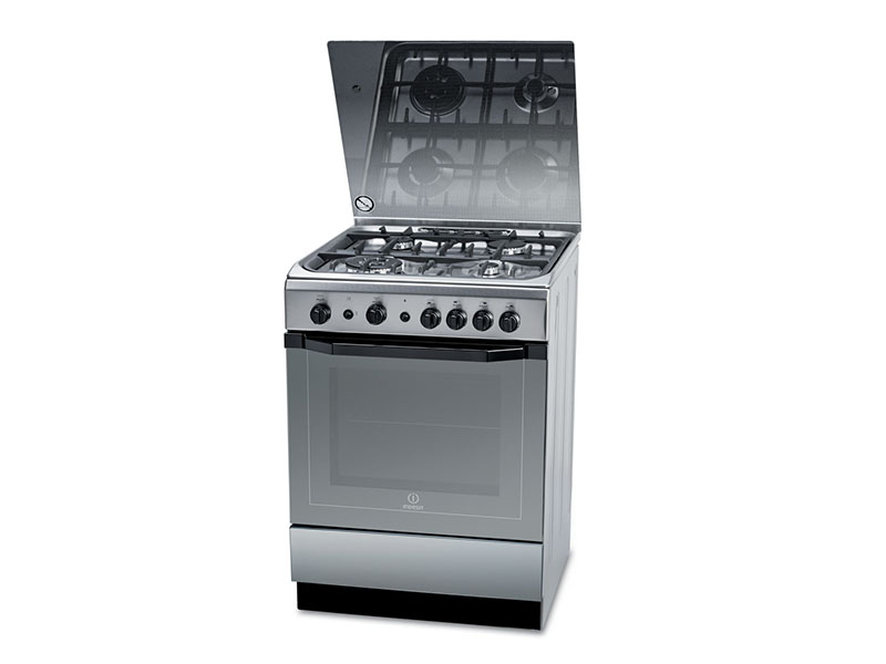 Indesit 4 Gas Cooker with Gas Oven, 60cm – I6TG1G(X)GH/EX Gas Cookers