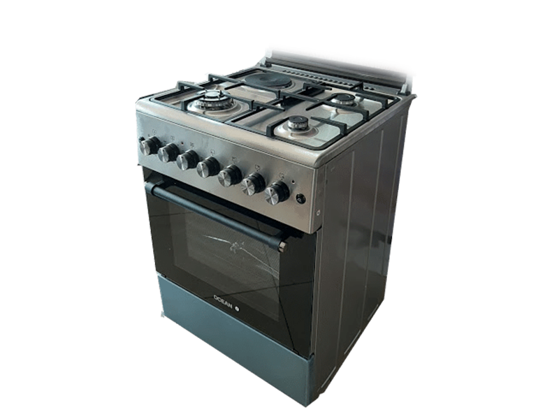 Ocean Combination Cooker (3 Gas + 1 Elec.) with Electric Fan Oven, 60cm – OCER 6631-20ICZ