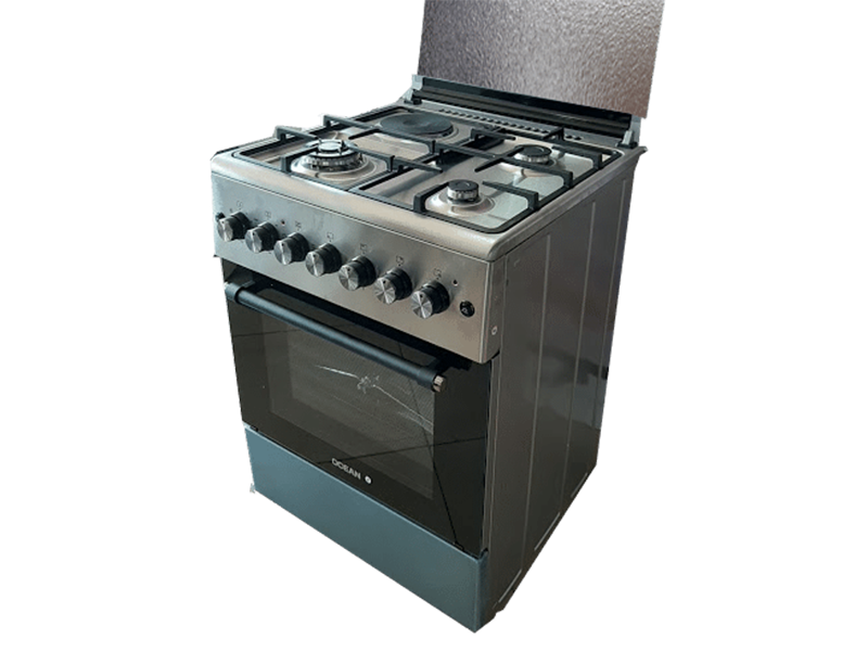 Ocean Combination Cooker  (3 Gas + 1 Elec.) with Electric Oven, 60cm – OCER 6631-20ICZ