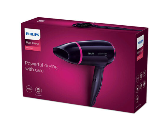 Philips 1600W Essential Care Compact Hair Dryer – BHD002 Hair Dryers Blow Dryer