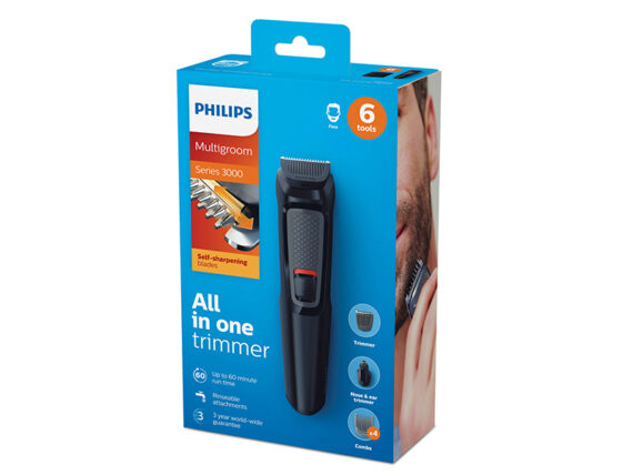 Philips 6-in-1 Multigroom Kit, Cordless Trimmer, Series 3000 MG3710/13 Trimmers Shaver