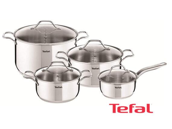 Tefal Intuiton 5 Pieces Non-stick Pots and Pan Set – A702S885 Pots and Pans
