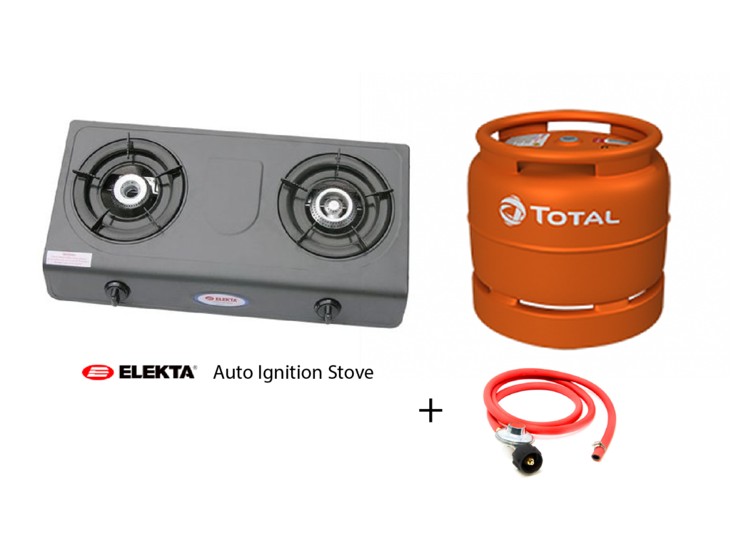 Elekta Auto Ignition Gas Stove with 6kg Total Gas. Full Set