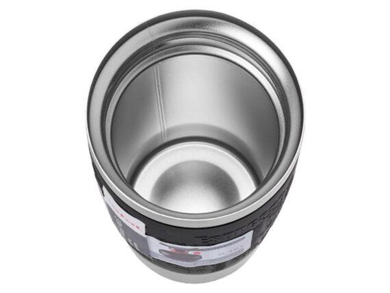 TEFAL Thermal Travel Mug 0.36 L, Black Silver – K3081114 Drinkware