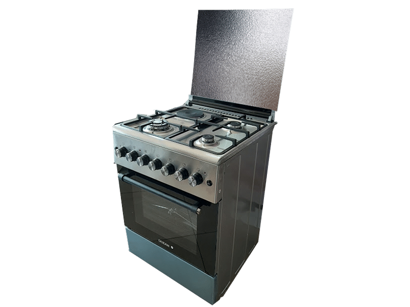 Ocean Combination Cooker (3 Gas + 1 Elec.) with Electric Oven, 60cm – OCER 6631-231