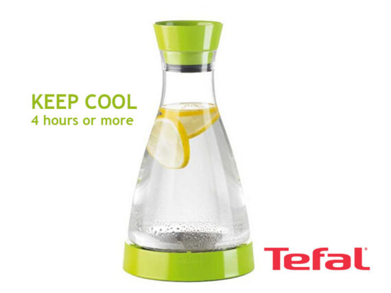 TEFAL Flow Friend Cooling Jug, Green – 1 liter – K3055112 Drinkware