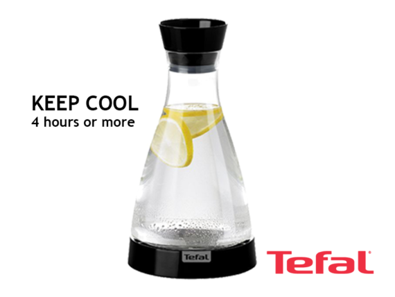 TEFAL Flow Friend Cooling Jug, 1 liter (Black) – K3057112 Drinkware