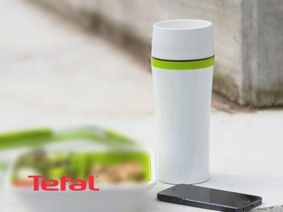Tefal Fun Travel Mug, Thermal Bottle, Green, 0.36 liter – K3070114 Drinkware