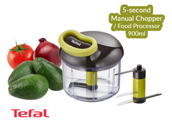 Tefal Easypull Non-electric Food Processor/Chopper, 900ml – K1320404 Choppers Food Choppers