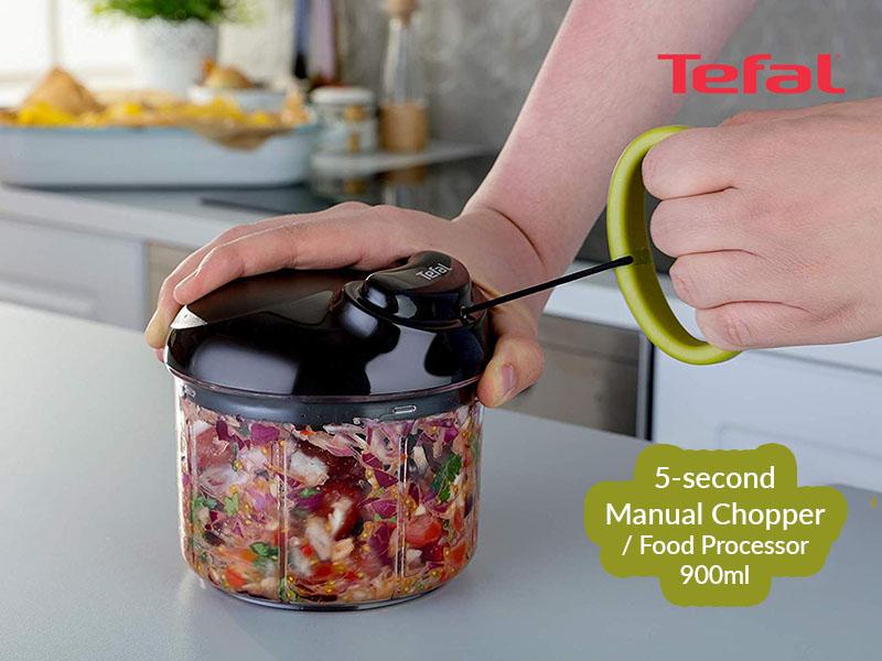 Tefal Easypull Non-electric Food Processor/Chopper, 900ml – K1320404