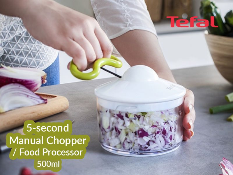 Tefal Easypull Non-electric Food Processor/Chopper, 500ml – K1330404 Choppers Food Choppers