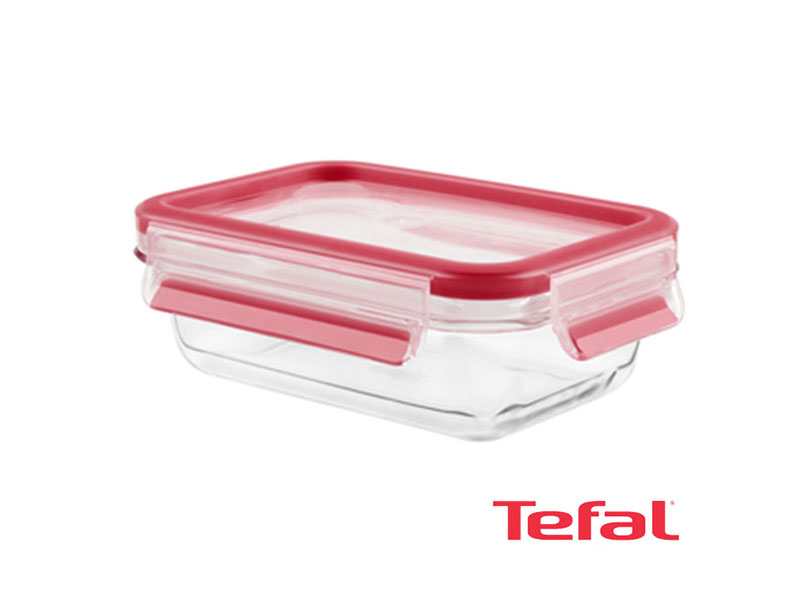 Tefal Masterseal Glass Food Conservation Container, Red – 0.5l – K3010212 Ovensafe Food Containers