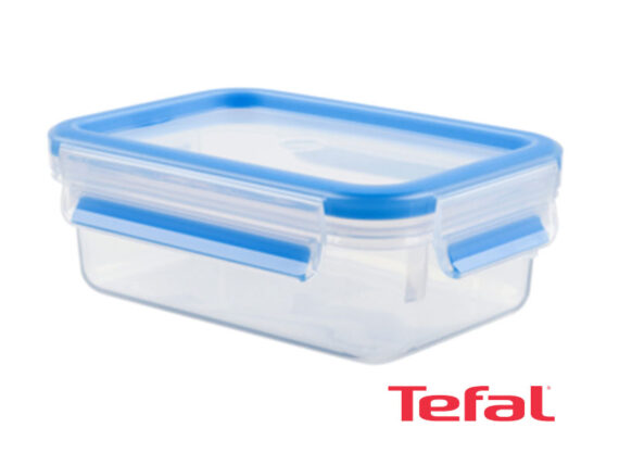 Tefal Masterseal Plastic Food Conservation Container, Blue – 1l – K3021212 Ovensafe Food Containers Pastic Containers