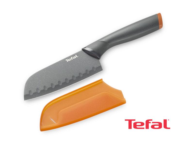 Tefal Santoku FreshKitchen knife + Case, Stainless Steel 12 cm – K1220114 Knives Kitchen Knives