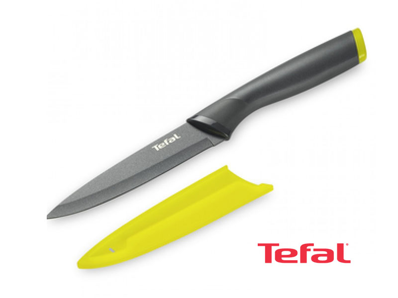 Tefal Fresh Kitchen Knife + Protection, Stainless Steel 12cm  – K1220714 Knives Kitchen Knives