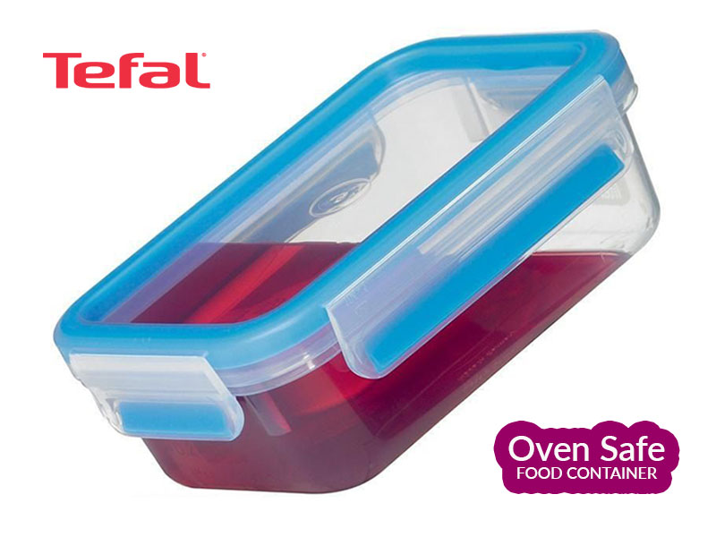 Tefal 2.3l Ovensafe Plastic Food Storage Container, Rectangular-Blue K3021512 Ovensafe Food Containers Oven Dishes